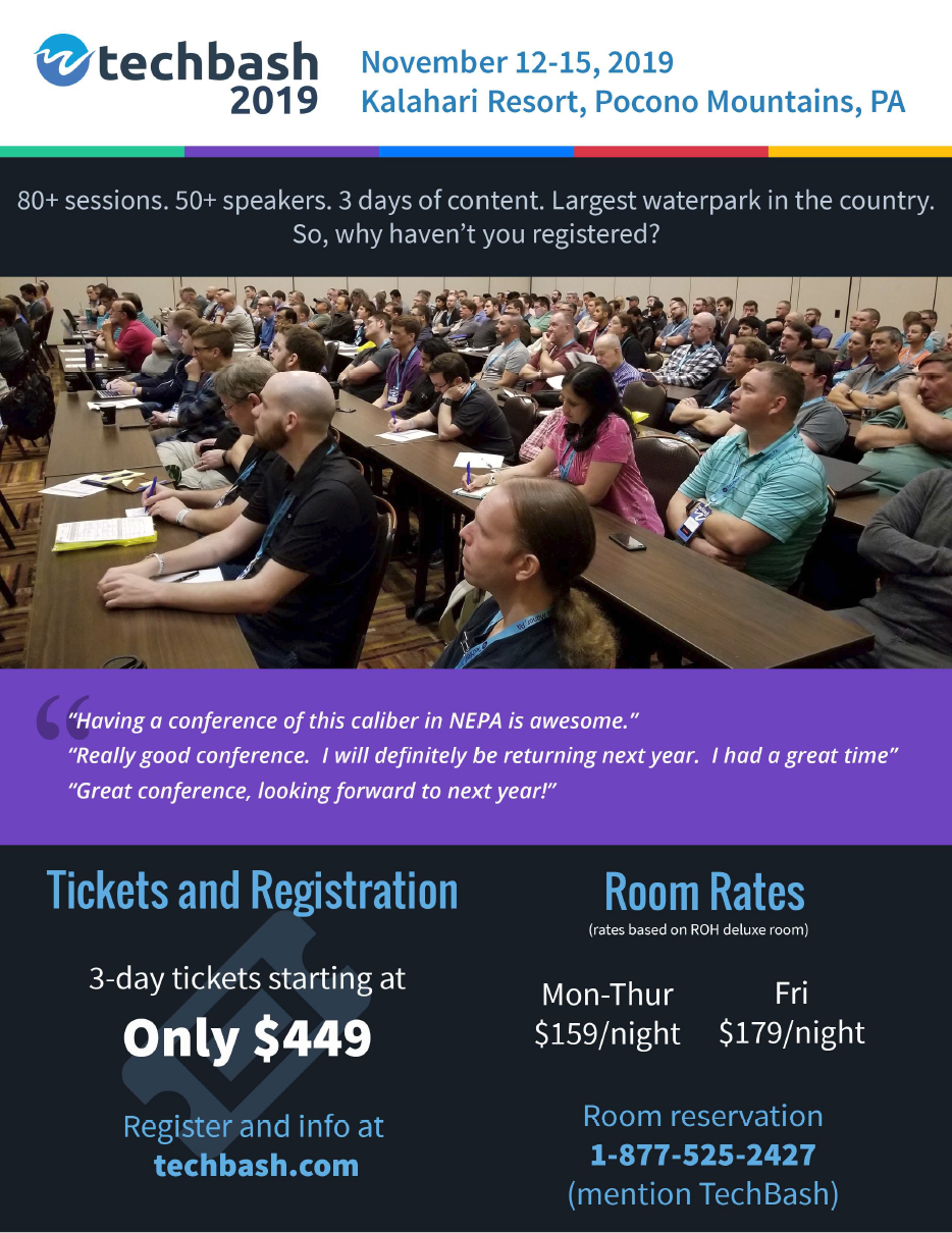 Techbash 2019 Event Flyer
