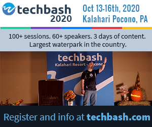 Register for Techbash 2020 developer conference at techbash.com
