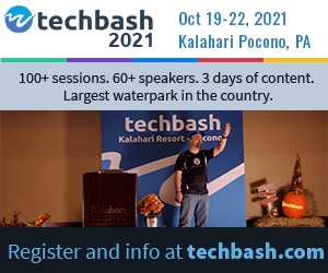 See the sessions for Techbash 2021 developer conference at techbash.com