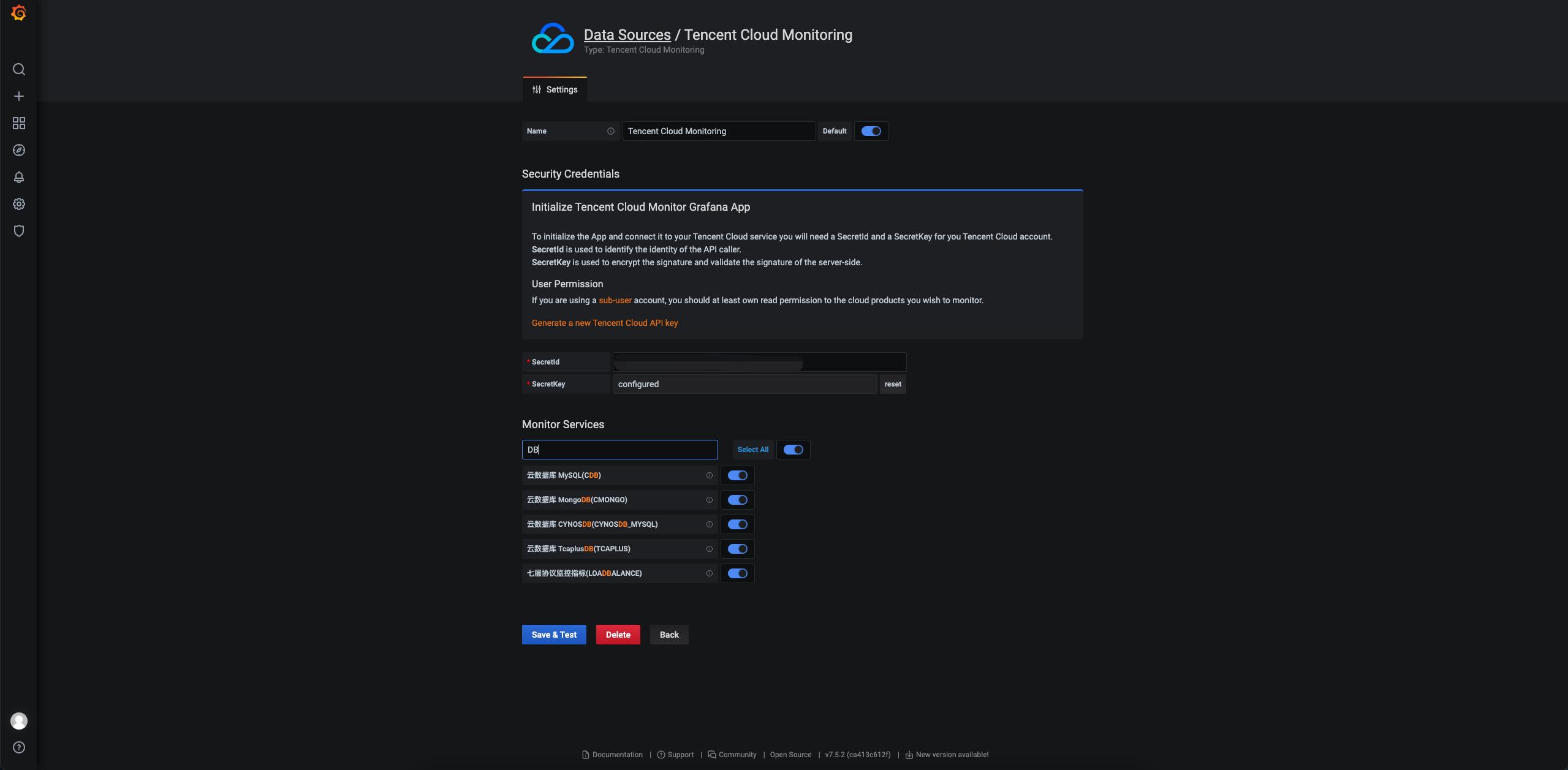 Datasource Config