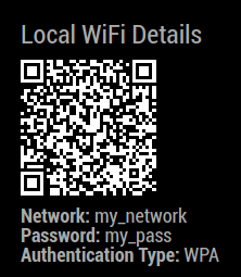 MMM-WifiPassword Screenshot