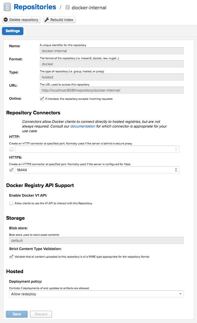 Setup Docker Private Registry in Nexus Repository OSS 3 x x