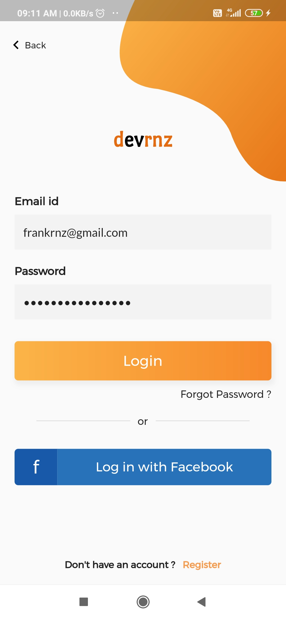 Login Screen Design