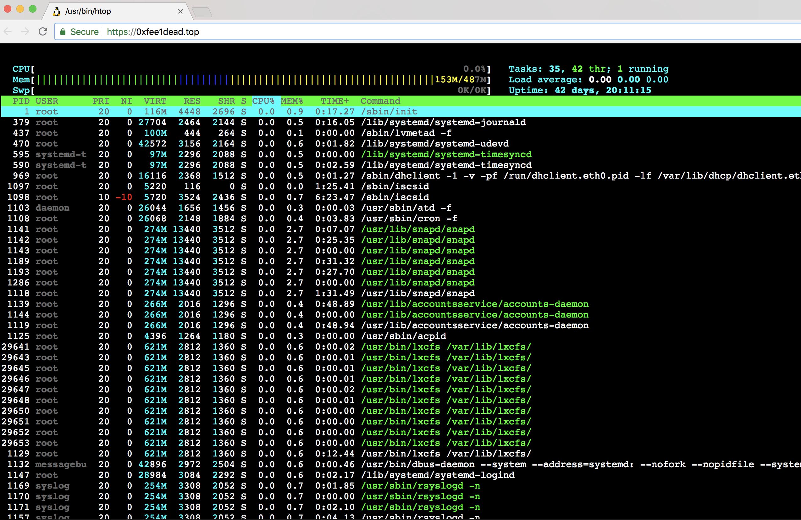 In-browser screenshot