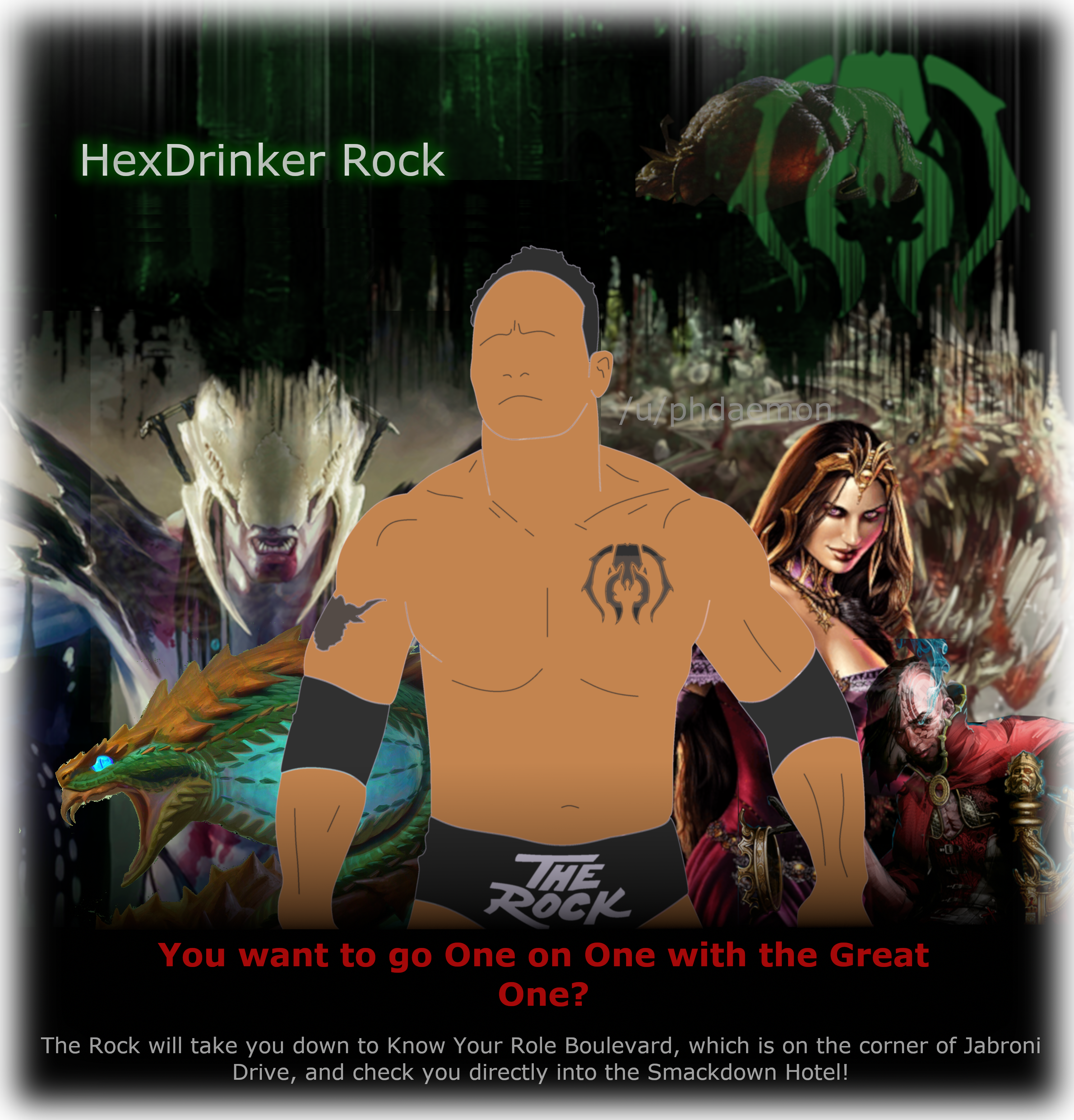 The rock will kick your roody poo candy ass