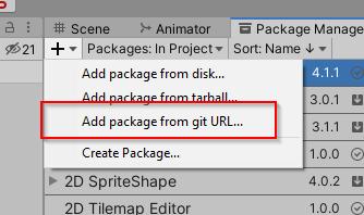 UnityAddGitPackage