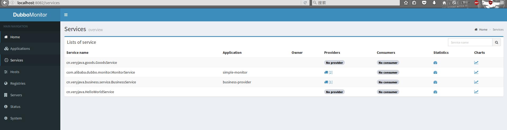 dubbo-monitor-services
