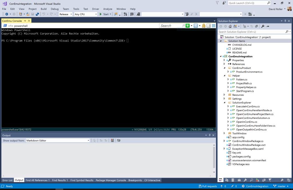 ConEmu integrated in Visual Studio