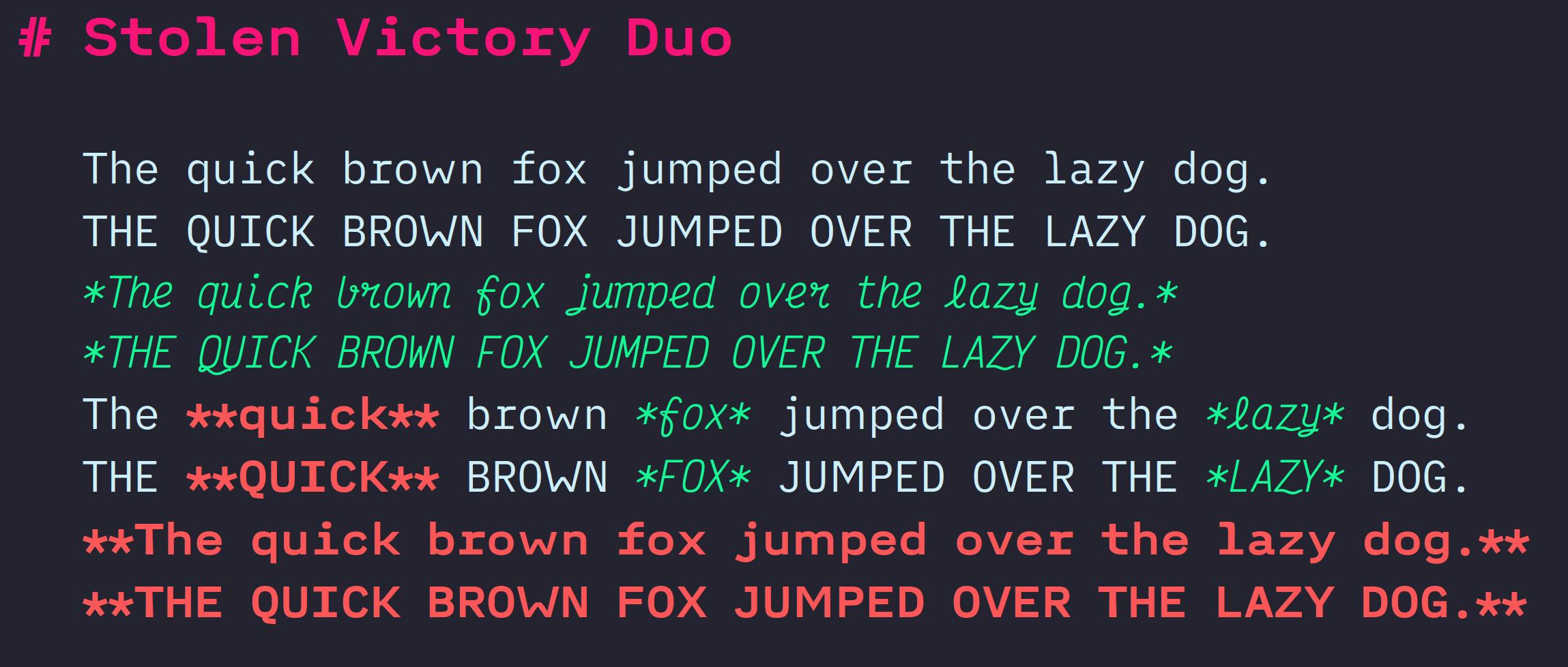 Stolen Victory Duo