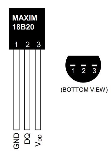 DS18B20+ Diagram