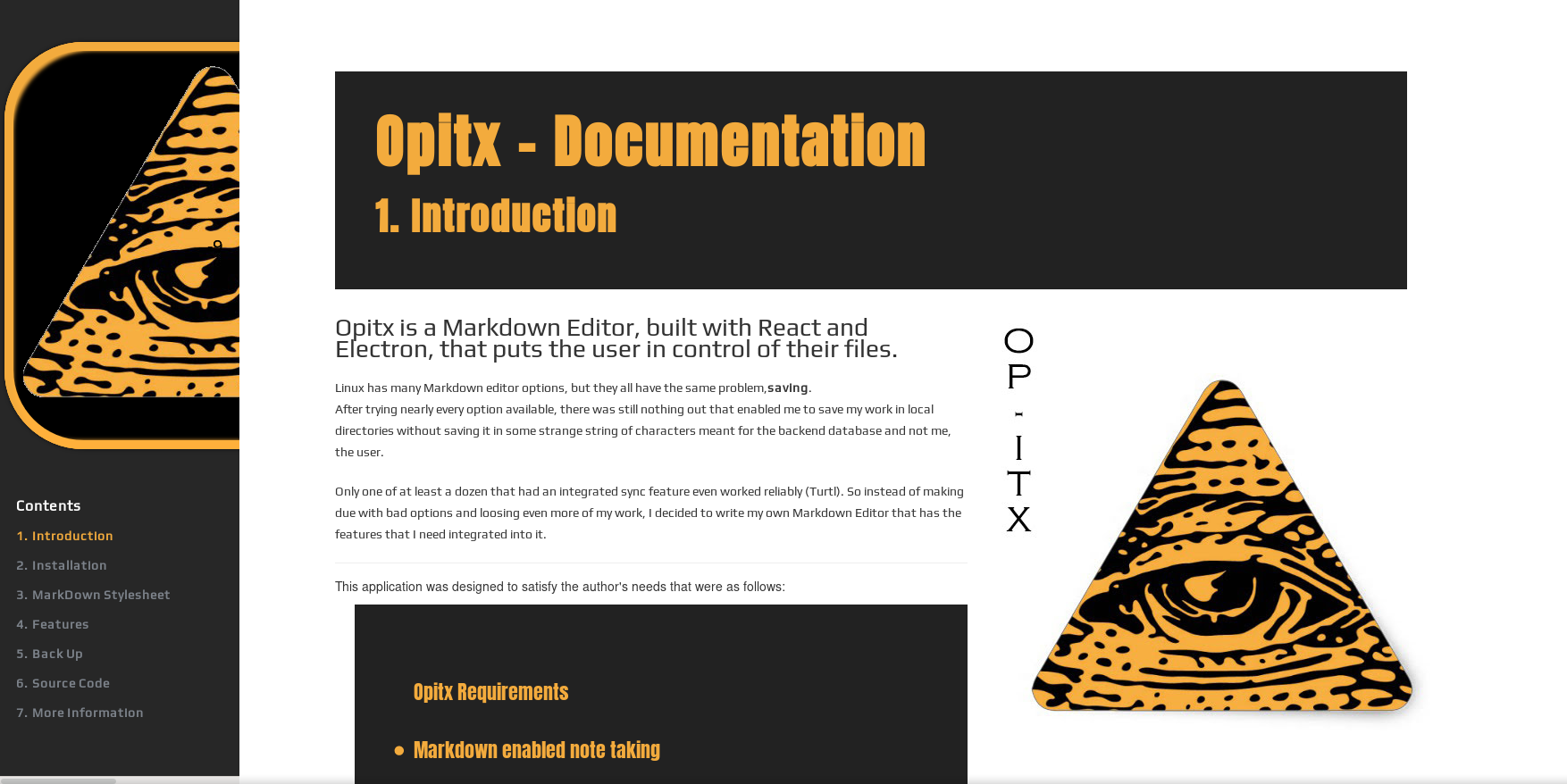Opitx Documentation Front Page