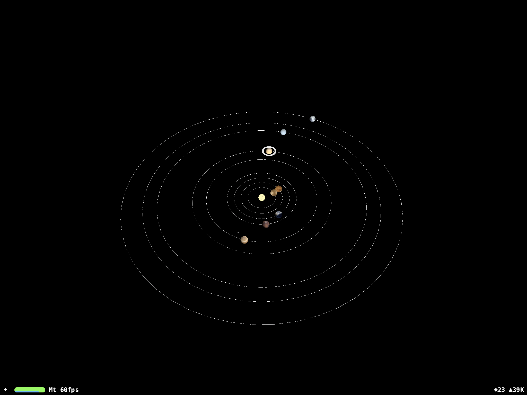 Solar System on a SCNView
