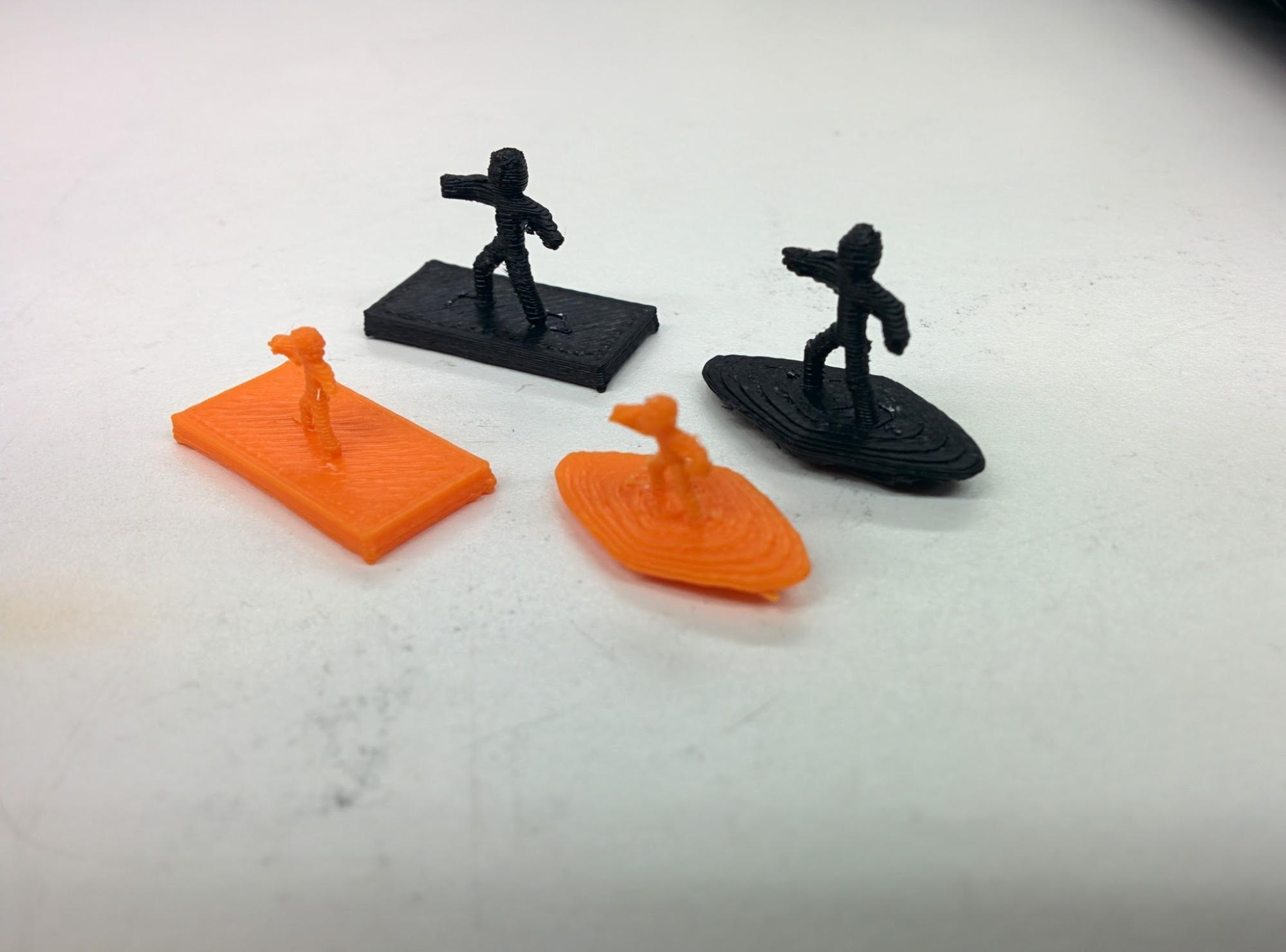 3D printed Surfers