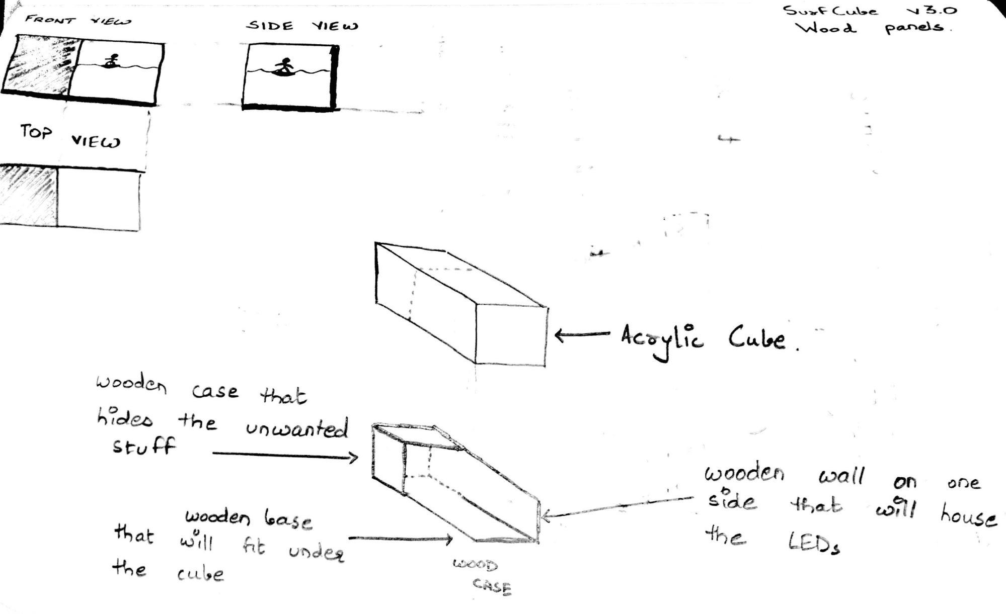 Laser cut wood case