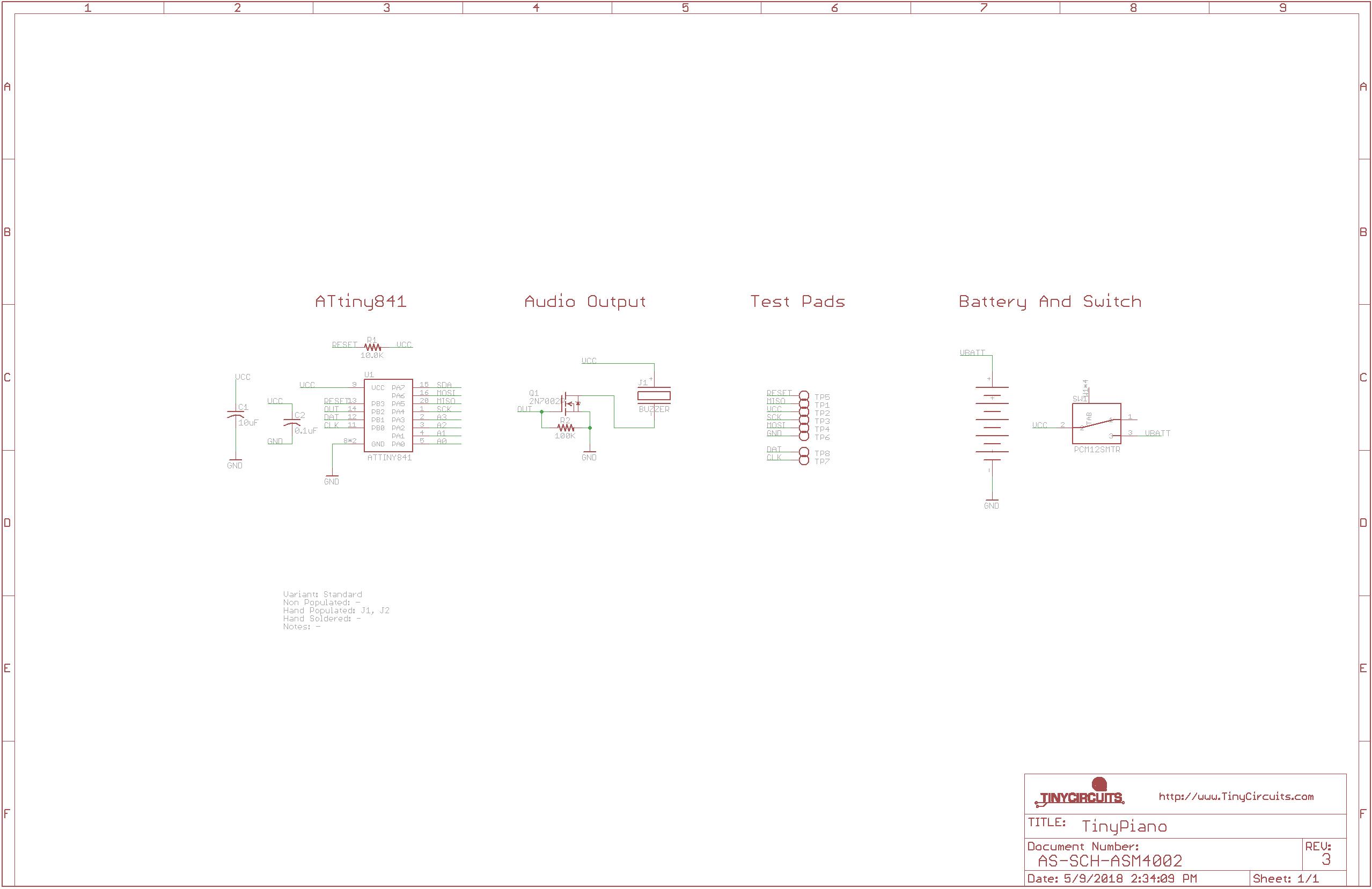 TinyPiano schematic