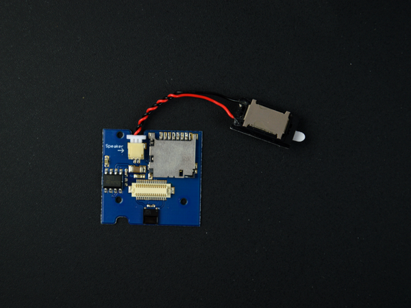 MicroSD & Audio TinyShield with speaker plugged in