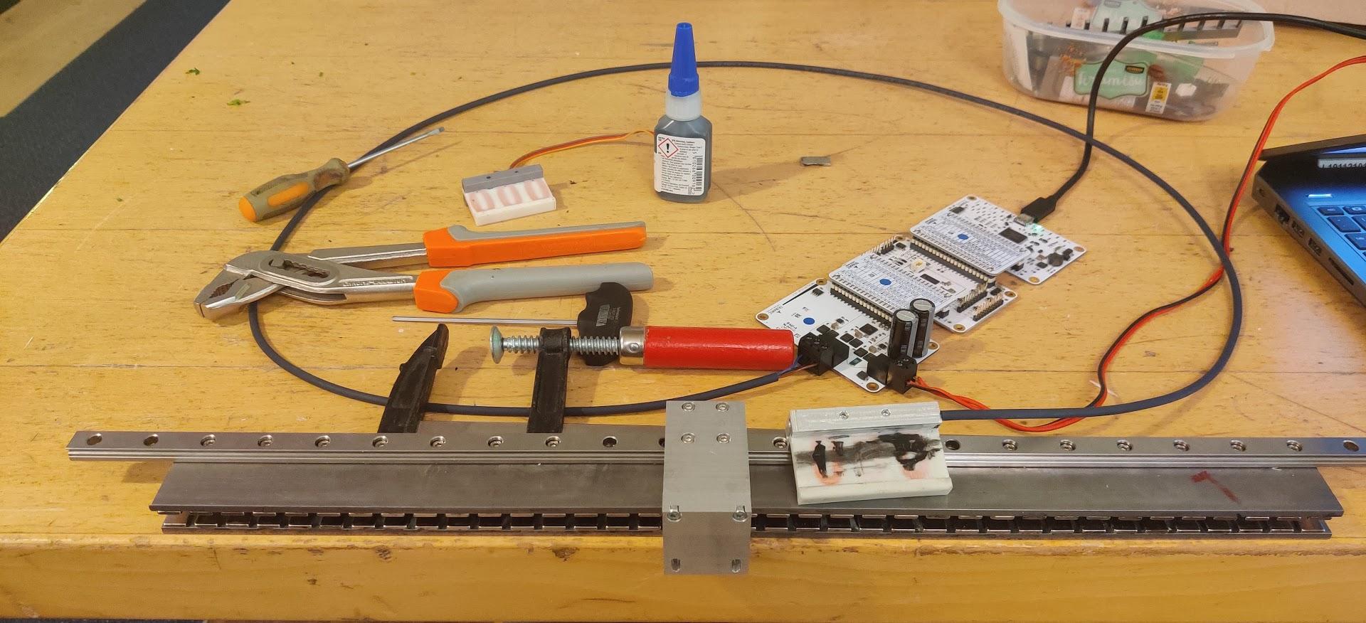 DIY Ironless Linear Motor