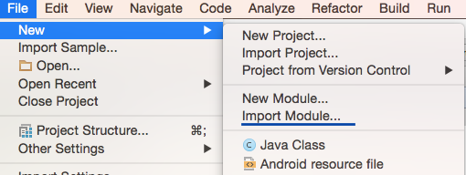 Import Module Step1
