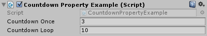 CountdownPropertyExample Editor Screenshot