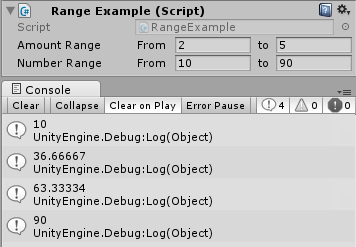 RangeExample Editor Screenshot