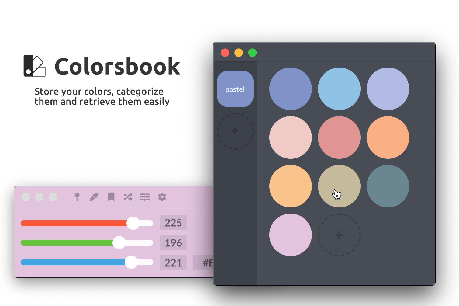 Colorsbook System Storage
