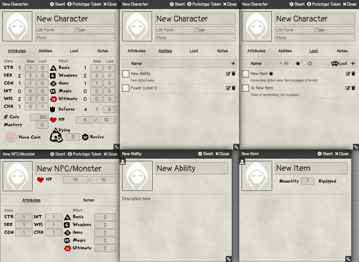 Index Card RPG System for Foundry VTT