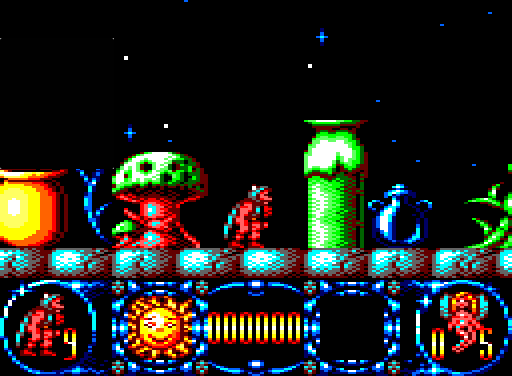 The Amstrad CPC version of Stormlord, with a classic 1:1 pixel emulation