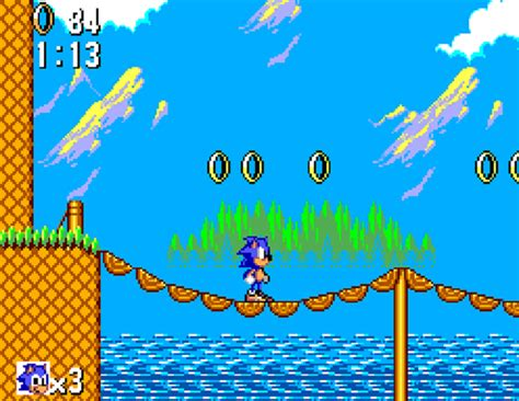 Sonic the Hedgehog with a classic 1:1 pixel emulation