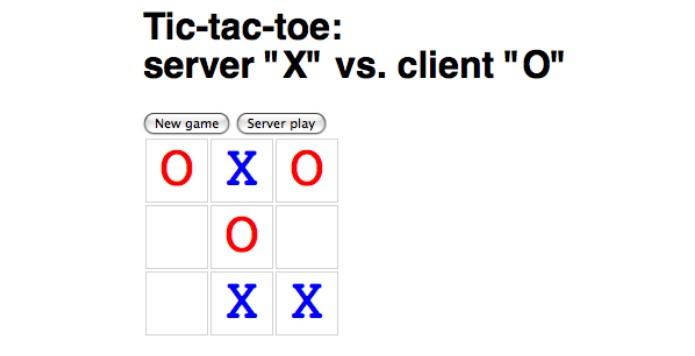 图8-2 使用JSONP的井字棋游戏