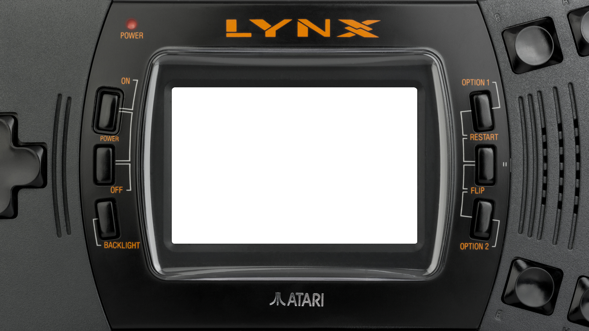 Atari Lynx II with Rounded corners