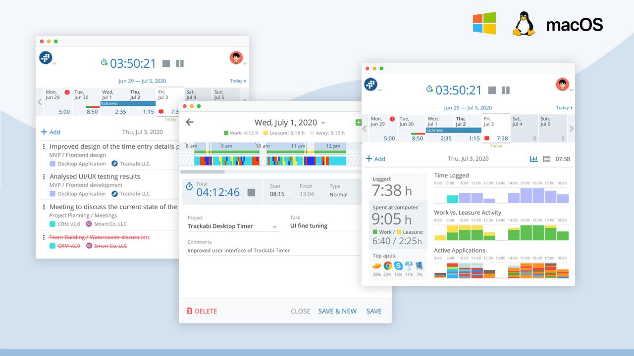 Trackabi desktop timer application