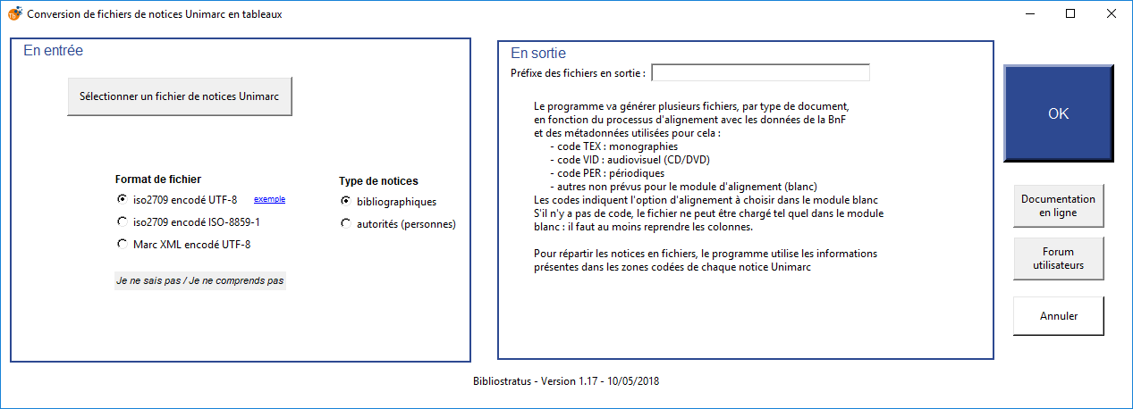 Module 1 : convertir une extraction catalogue en tableaux