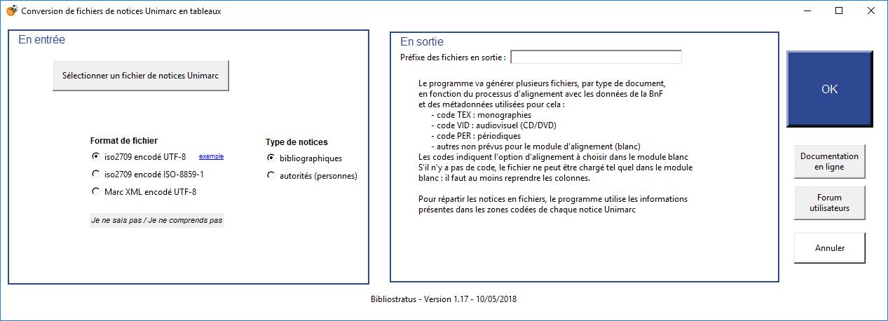 Module 1 : convertir une extraction catalogue en tableaux