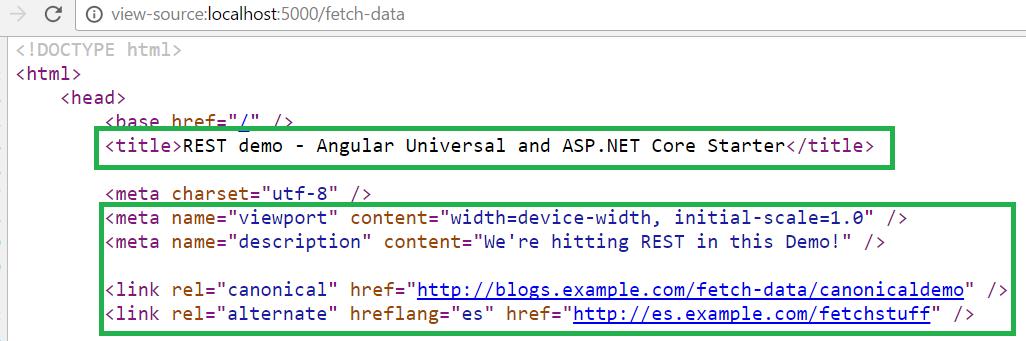 ASP.NET Core Angular7 SEO