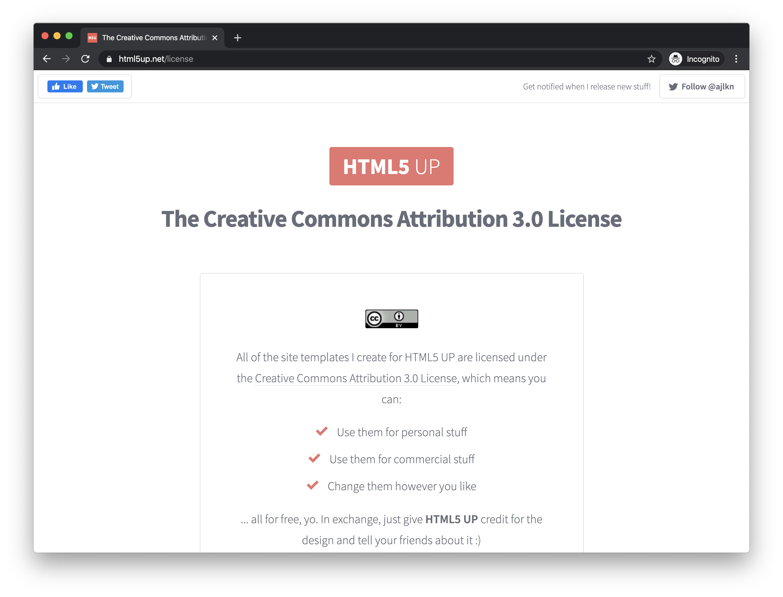 The Creative Commons License
