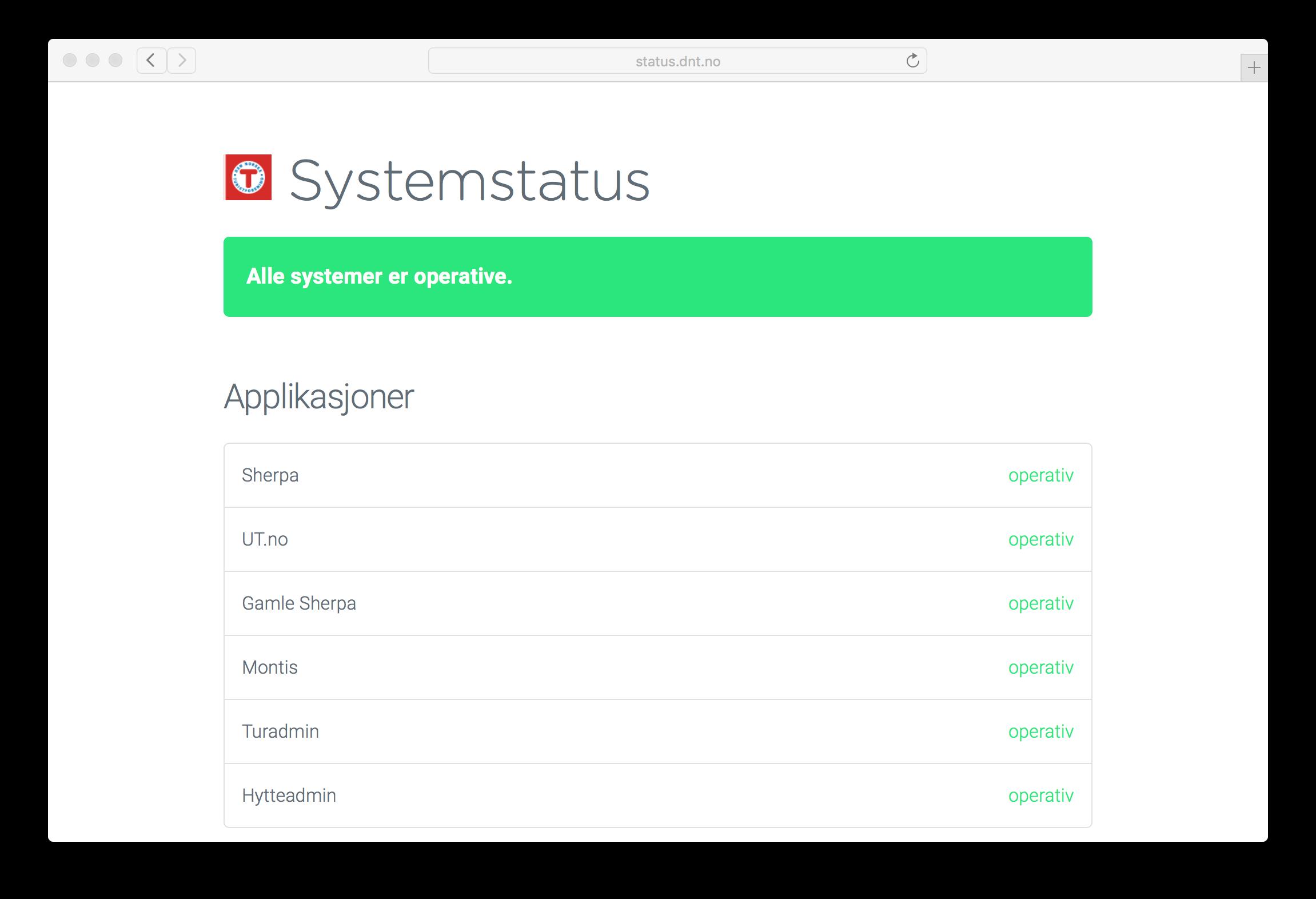 GitHub - Turistforeningen/status: System Status Overview Turistforeningen/status - 웹
