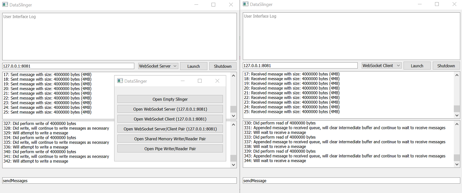 WebSocket implementation client-server