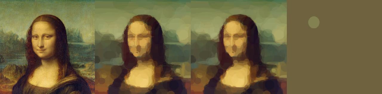 Geometrized Mona Lisa