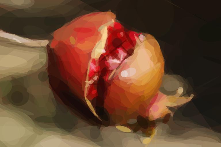 Geometrized Pomegranate - 300 Rotated Ellipses