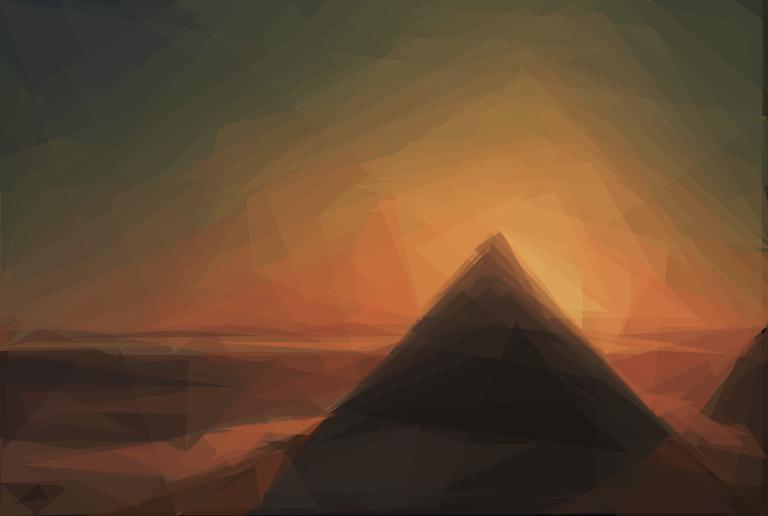 Geometrized Pyramid 150 Triangles