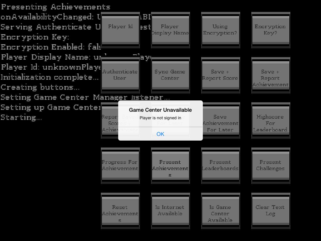 Screenshot of it working