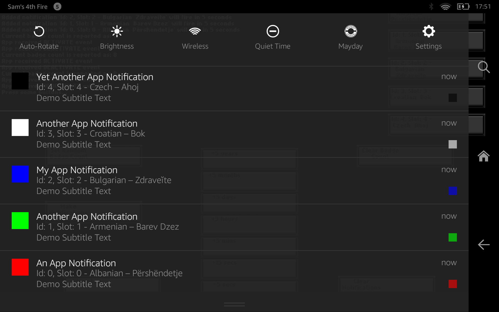 Screenshot of Android notification