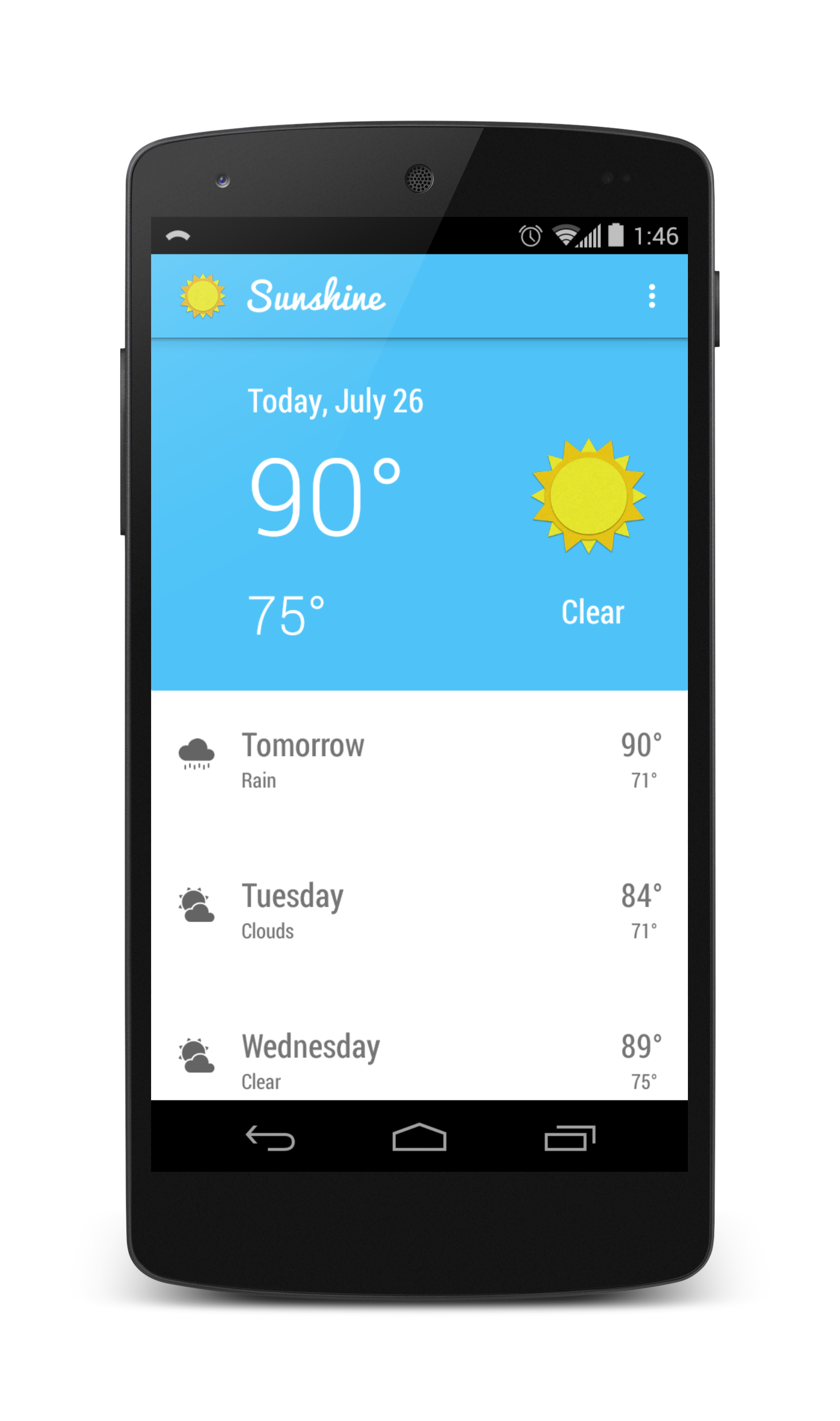 GitHub - TylerMcCraw/android-weather: View a beautiful