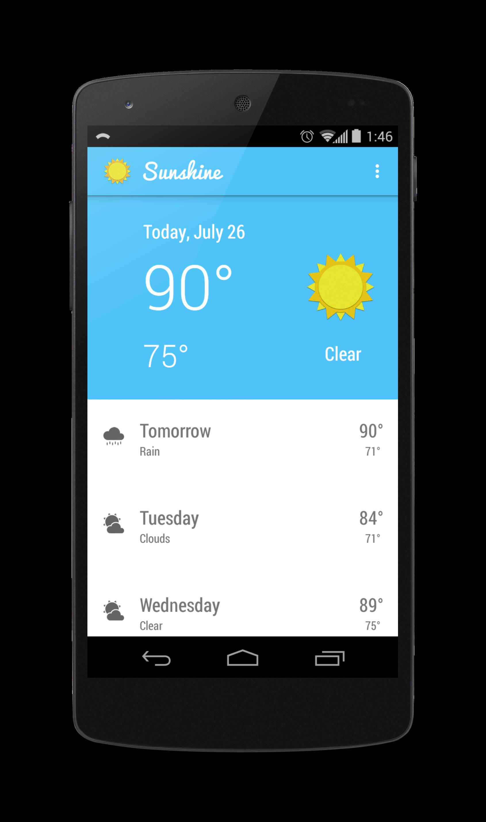 Udacity Sunshine App