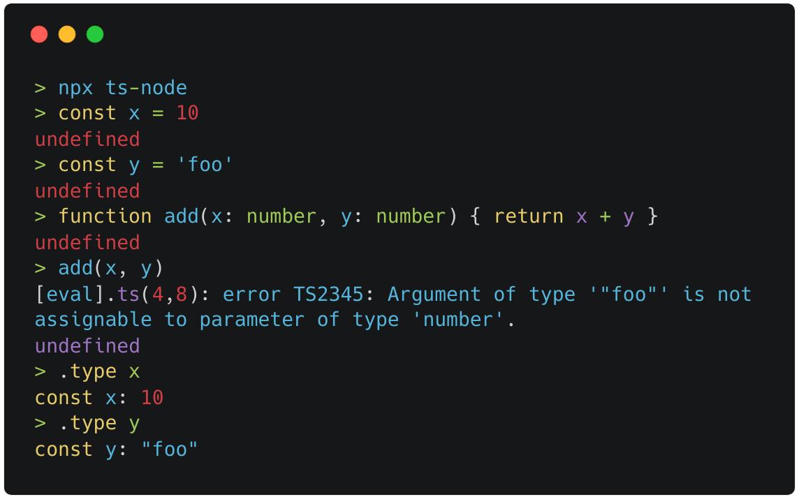 TypeScript REPL