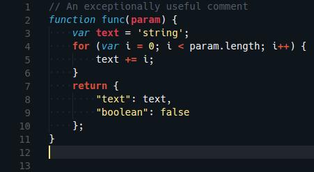Visual Studio Code Glacier theme preview