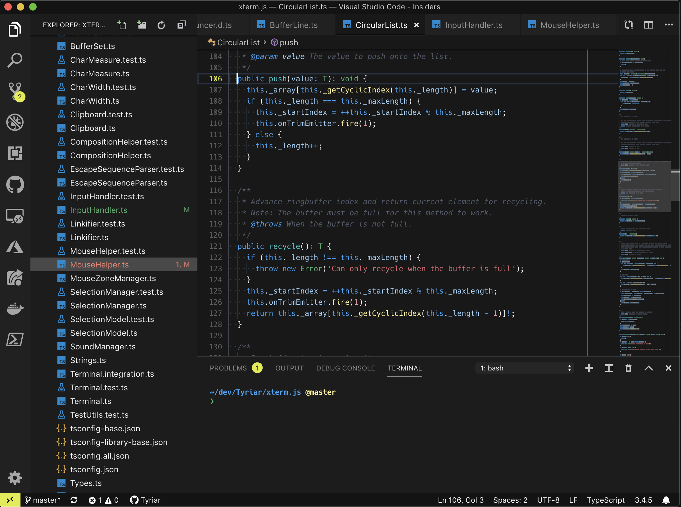 Visual Studio Code Topaz theme preview