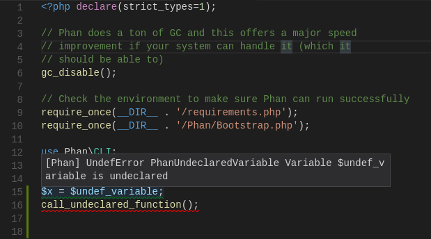 Phan error detection demo