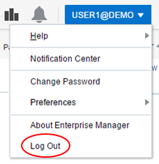 Log Out menu option