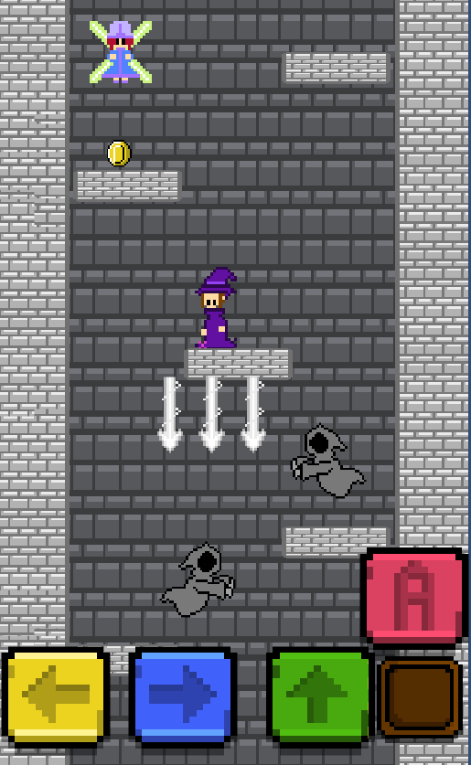 Witch Tower is a free game of the genre platform and action, you play as a  good witch and a fairy in an adventure to save all the fairies of the  village ...